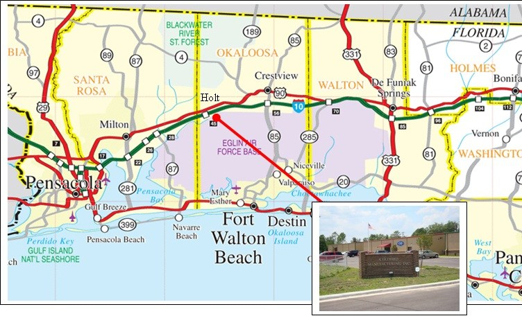 Holt Florida Map.Certified Manufacturing Enterprises Locationcertified